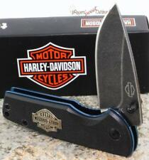 CASE XX Harley-Davidson Motor Cycle Tec X Blue G-10 T01193.5 Pattern Knife NEW