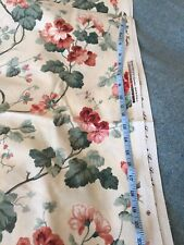 "Vintage Arthur Sanderson ""Country Life"" 1988 cotton fabric 4.2m long x 54"" wide"