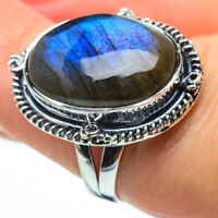Labradorite 925 Sterling Silver Ring Size 7.5 Ana Co Jewelry R29783F