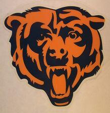 "Chicago Bears Vinyl 2 Color Bear Face Logo Window Sticker Decal 3.5"" X 3.5"""