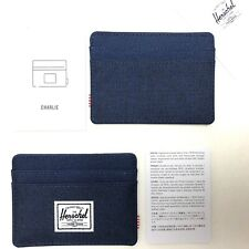 Herschel Charlie RFID Blocking Card Holder Navy (List$20) NEW