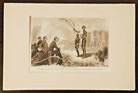 Le chef d'une des îles du roi Georges Gravure de 1880 par Bosrodon estampe litho