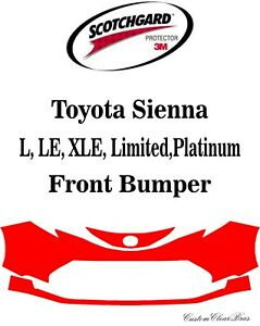 3M Scotchgard Paint Protection Film Clear Pre Cut 2021 2022 Toyota Sienna