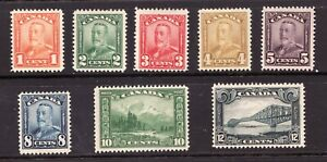 Sc# 149-156 - Canada - 1928 - KGV Scroll Issue - MNH - Superfleas - High CV