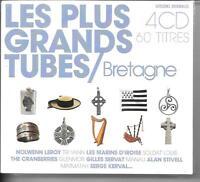COFFRET 4 CD COMPIL 60 TITRES--LES PLUS GRANDS TUBES DE BRETAGNE--NEUF