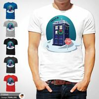 Doctor Who Christmas Design T-Shirt, Life of Doctor Spoof, Police Box White