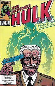 Incredible Hulk Comic 291 Copper Age General Ross Thunderbolt Origin Marvel