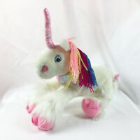 "A21 Toy Factory White Pink Unicorn Pony Plush 15"" Stuffed Toy Lovey"