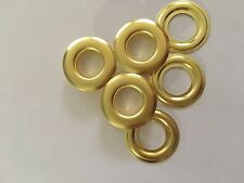 "100 # 4 ( 1/2"" ) Solid Brass Self Piercing Grommets & Washers 100 Pair"