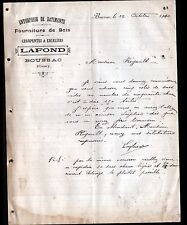 """BOUSSAC (23) CHARPENTES & ESCALIERS / BOIS """"LAFOND"""" en 1910"""