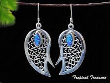 Synthetic Opal & 925 SOLID Silver Earrings    #48558