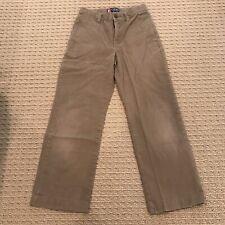 Vguc! Chaps Boys Flat Front Khaki Pants Classic Chino Schoolwear Smod Size 6