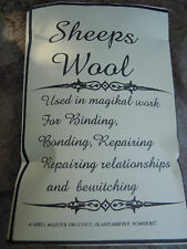 Natural sheeps wool spell supplies spells protection Witchcraft Occult