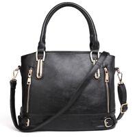 New Fashion Women Leather Messenger Shoulder Handbag Large Tote Ladies Purse Bag