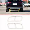 Edelstahlrohr Throat Auspuff Ausgänge Heckrahmen AMG Abdeckung für Audi Q7 16-19