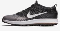Nike Flyknit Racer Golf Lightweight Shoes Black White 909756-001  Mens 9 thru 12