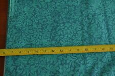 N1430 RJR//Cotton By 1//2 Yd Cream Turquoise Green Navy Quilting Steel//Kight