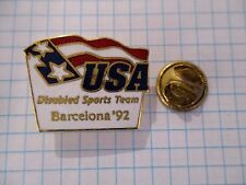 PINS RARE USA DISABLED SPORTS TEAM OLYMPIC GAMES BARCELONA PARALYMPICS m1