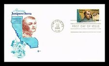 DR JIM STAMPS US JUNIPERO SERRA AIR MAIL UNSEALED FDC COVER CRAFT SCOTT C116