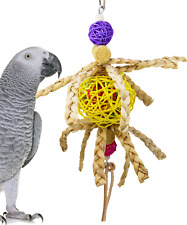 1650 Octi Planet Bird Toy Cage Toys Cages Foraging Chew Shredder Conure Parakeet