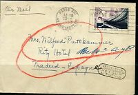 FRANCE 9/30/1953  PARIS  COVER TO MADRID SPAIN RETURNED TO PARIS 11/19/1953
