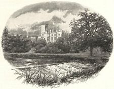 STAFFORDSHIRE. Ilam Hall 1901 old antique vintage print picture