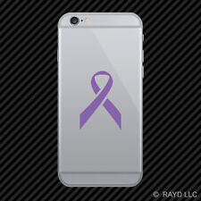 (2x) Breast Cancer Ribbon Cell Phone Sticker Mobile pink many colors