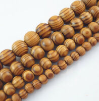 6,8,10,12,16,18mm Natural Wood Round Loose Spacer Beads Jewelry DIY Bracelet Yc