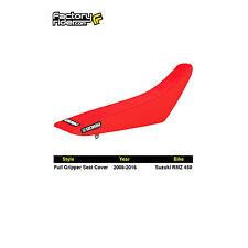 2008-2016 SUZUKI RMZ 450 All Red FULL GRIPPER SEAT COVER BY Enjoy MFG