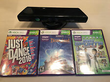 Microsoft Xbox 360 Kinect Sensor Bundle with Games Just Dance 2016 + More