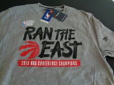 TORONTO RAPTORS Ran the East 2019 NBA Conference Champions LARGE Fanatics Shirt