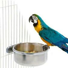 New listing Steel Pet Hanging Bowl Feeding Cat Bird Parrot Water Cup Food N S4W2