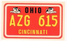 figurina U.S.A. TARGHE NUMBER PLATES EDIZIONE FIGURINA CLUB NEW OHIO