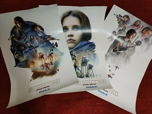Star Wars Rogue One Original Limited Edition IMAX Posters 1 2 3 Full Set
