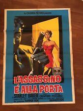 MANIFESTO 2F P,L'ASSASSINO E' ALLA PORTA,Hell is a City. 1960,Pleasence HAMMER
