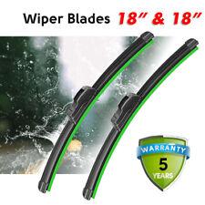 "18""& 18"" Windshield Wiper Blades Premium Hybrid silicone J-Hook OEM High Quality"