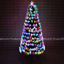 Fibre Optic Christmas Tree LED Lights Pre-Lit Artificial Xmas Home Decorations