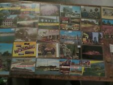 29 Vintage Postcards 1970-2000 w/ Stamps Writing, See my other Postcard Auctions