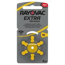 Rayovac Extra libre de mercurio Audífono Baterías X60 Tamaño 10