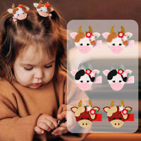 Cute Baby Small Cow Hair Clips Safety Hair Pin Barrettes for Children Girls Kids