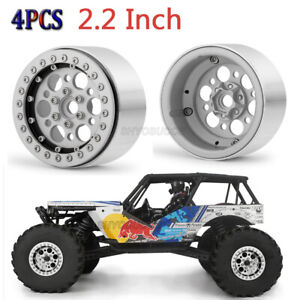 4PCS 2.2inch Beadlock Wheel Rim Set For 1:10 Axial Wraith SCX10 Crawler RC Truck