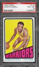 1972 TOPPS BASKETBALL #112 CAZZIE RUSSELL PSA 8