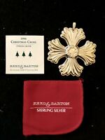 1996 Reed & Barton Christmas Cross w Reef Center Sterling Silver Ornament