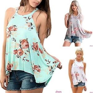 Floral Print Summer Top Sleeveless UK10 to 16