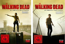 10 DVDs * THE WALKING DEAD - SEASON / STAFFEL 3 + 4 IM SET # NEU OVP WVG