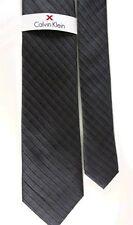 """Calvin Klein Men's 100% Striped Overlay Grid Neck Tie Gray Slim 2 3/4"""" x 57"""""""