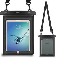 "Black Tablet Waterproof Pouch Dry Bag Case For 9.7"" iPad / Samsung Galaxy Tab S3"
