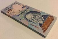 Venezuela Banknote Half Bundle. 50 X 20 Bolivares. Dated 2018. Unc.