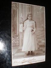 Cdv photograph communion girl by Brockesch Regensburg Germany c1890s Ref 509(1)