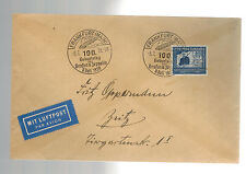 1938 Germany Count Zeppelin Anniversary Cover # C59 to Zritz